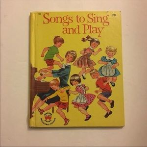 Vintage 1960s Wonder Book Songs to Sing & Play